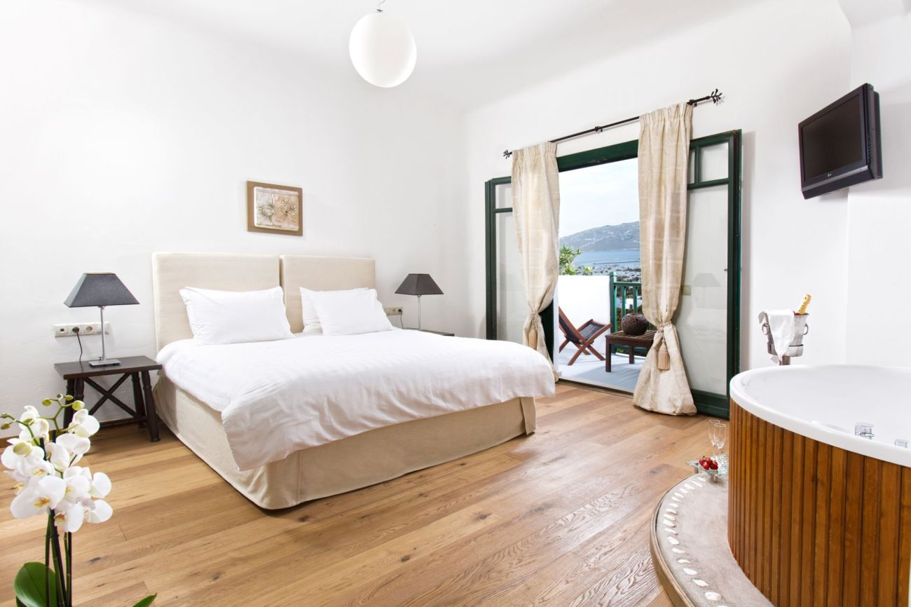 Bedroom at Tharroe of Mykonos