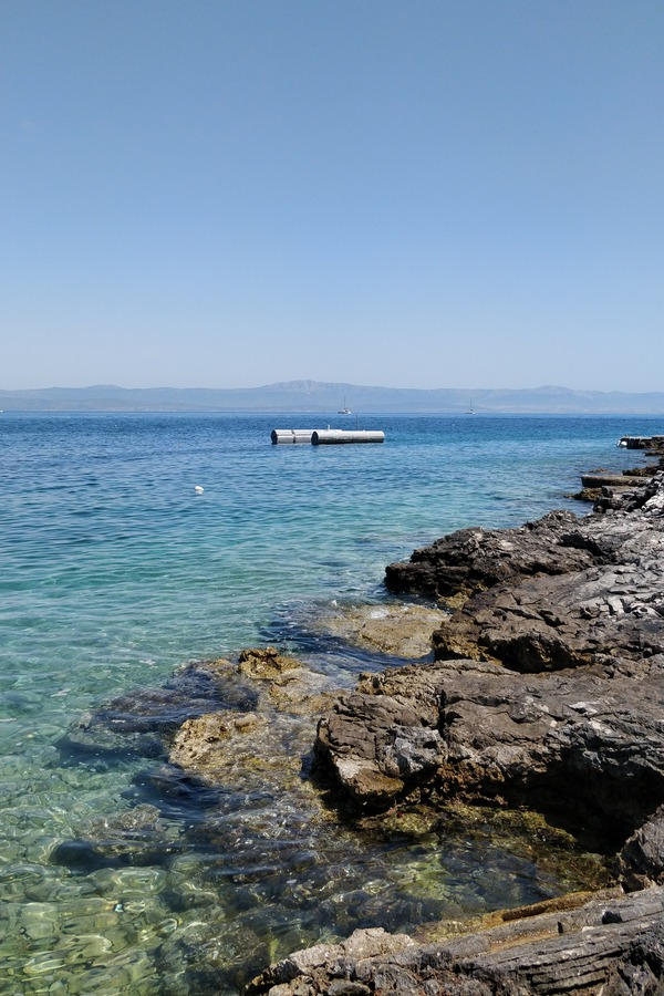 View from Stromoska beach in Solta, Croatia