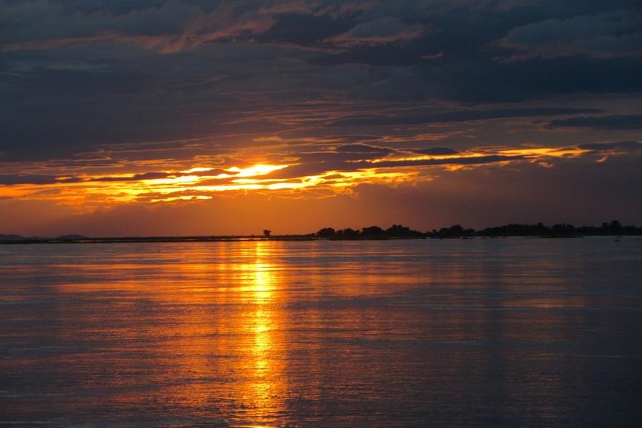 Bhramaputra River Sunset - Pixabay