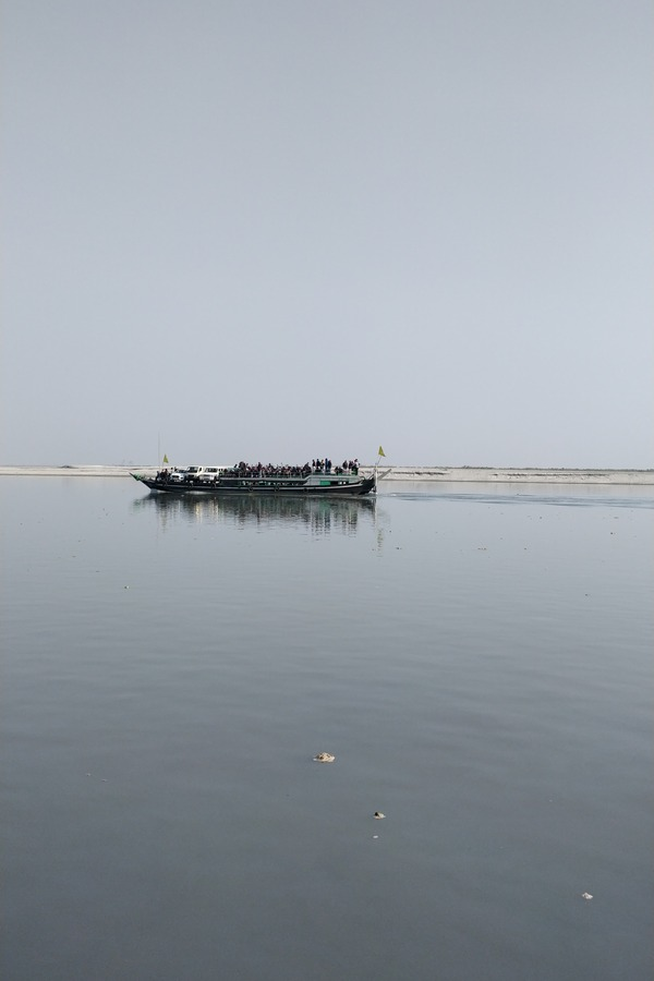 Ferry on the Brahmaputra to Majuli Island