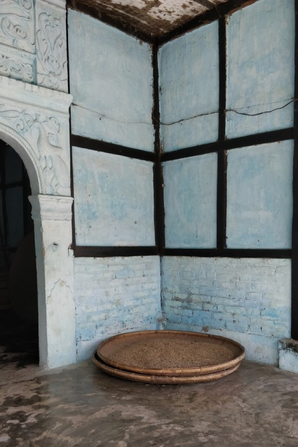 Grains kept at one of the Majuli satra