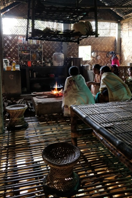 Inside a mishing kitchen in Majuli, Assam
