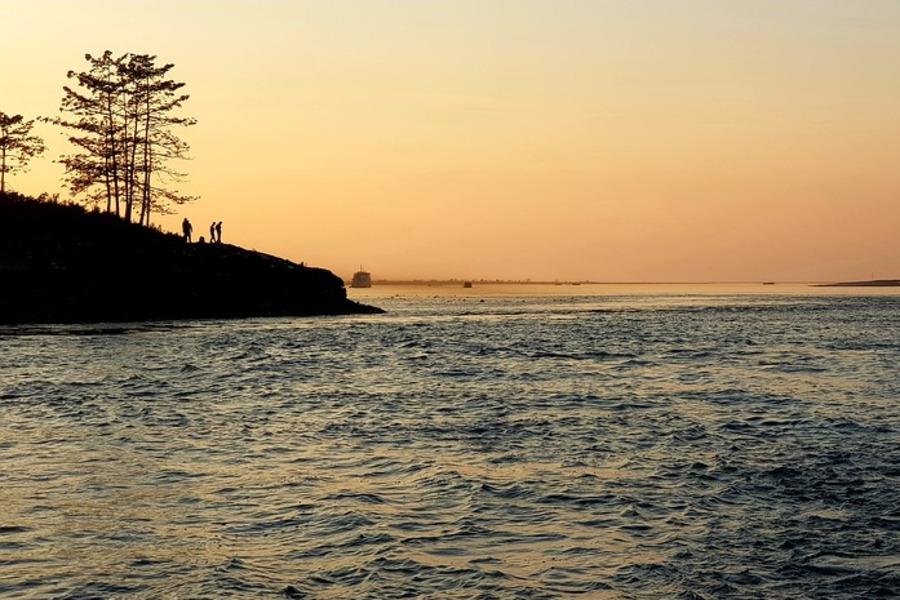 Majuli Island Sunset next to Bhramaputra River - Pixabay