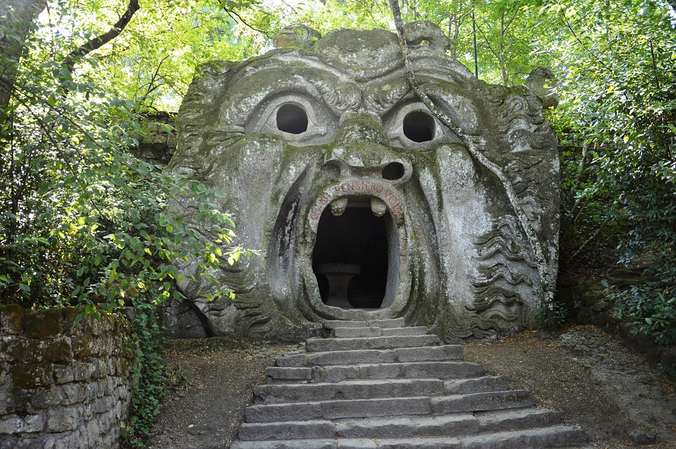 Gardens of Bomarzo in Italy