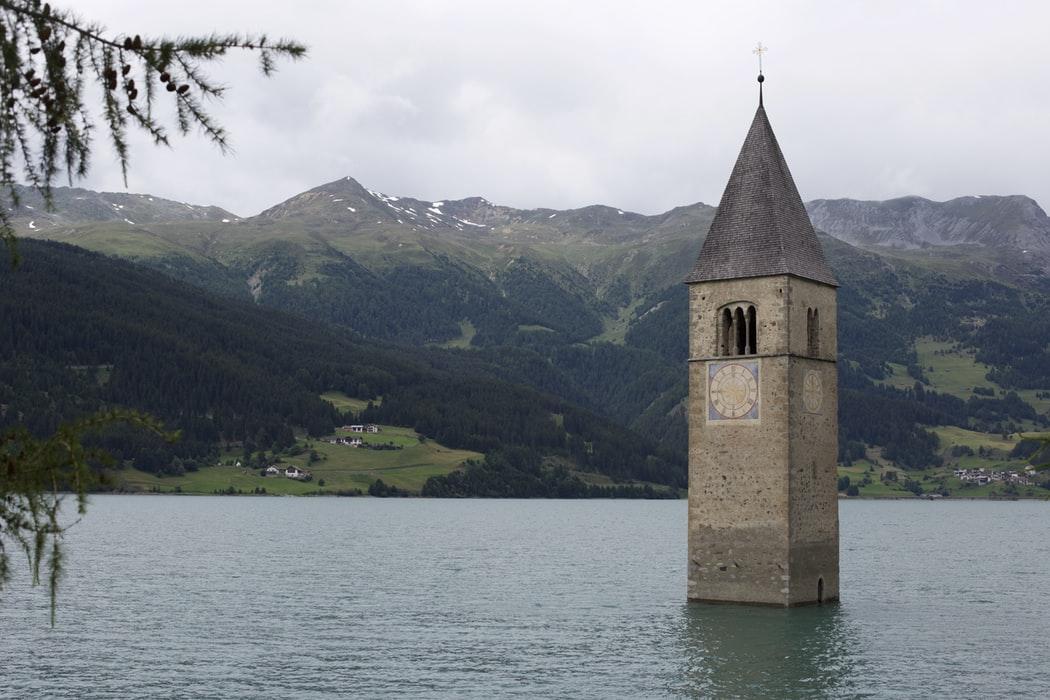 Italy's Drowned City at Lake Resia