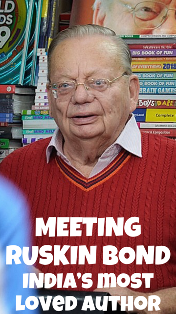 Meeting Ruskin Bond in Mussoorie #Books #Travel