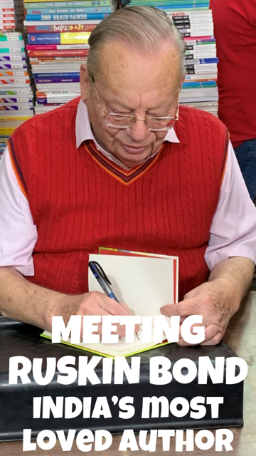 Meeting Ruskin Bond in Mussoorie, India