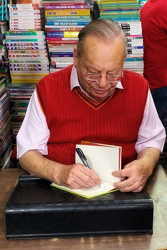 Ruskin Bond signing books