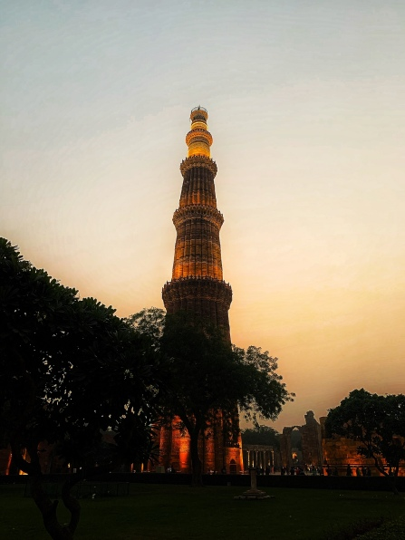 Qutub Minar at Sunset
