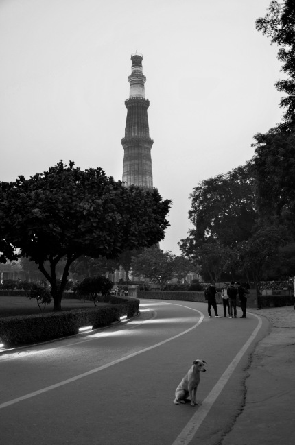 Qutub Minar in Black and White