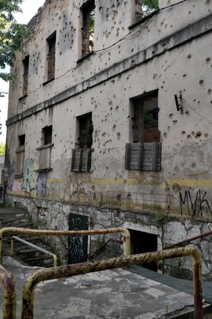 Abandoned buildings in Mostar