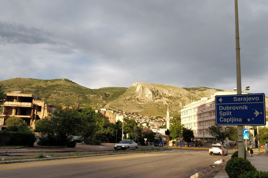 The roads of Mostar