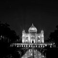 Safdarjung's Tomb at Night – Black and White