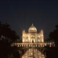 Safdarjung's Tomb at Night – Shimmering Lights