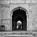 Safdarjung's Tomb Black and White Photo
