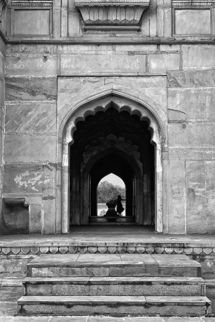 Safdarjung's Tomb Black and White Photo